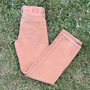 Levi's Camel Colored 514 Straight Cut Jeans